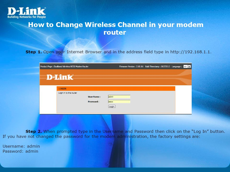 How to Change Wireless Channel in your modem router