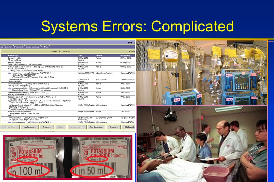 Systems Errors: Complicated