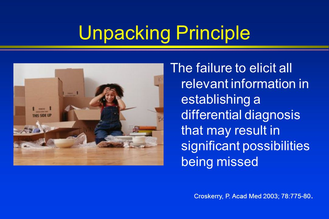 Unpacking Principle