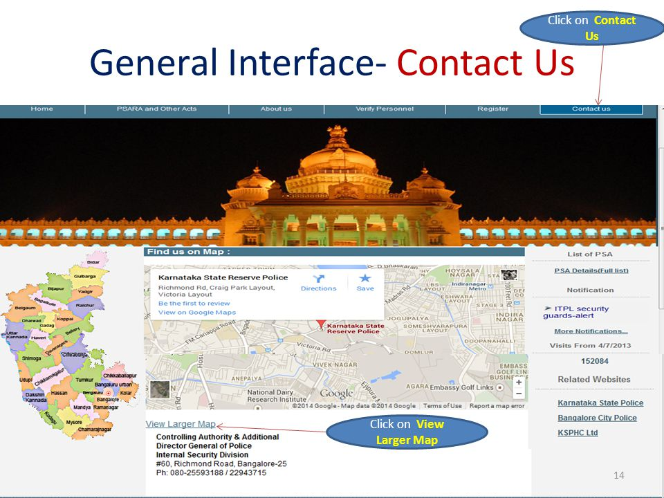 General Interface- Contact Us