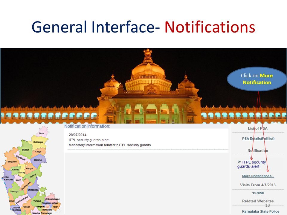 General Interface- Notifications