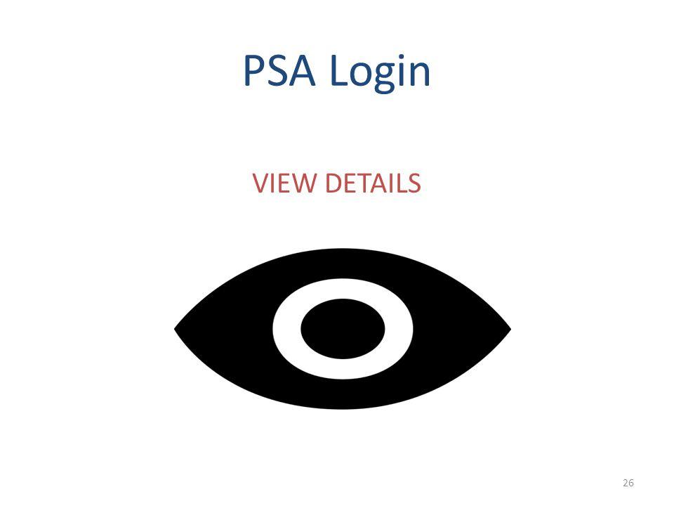 PSA Login VIEW DETAILS