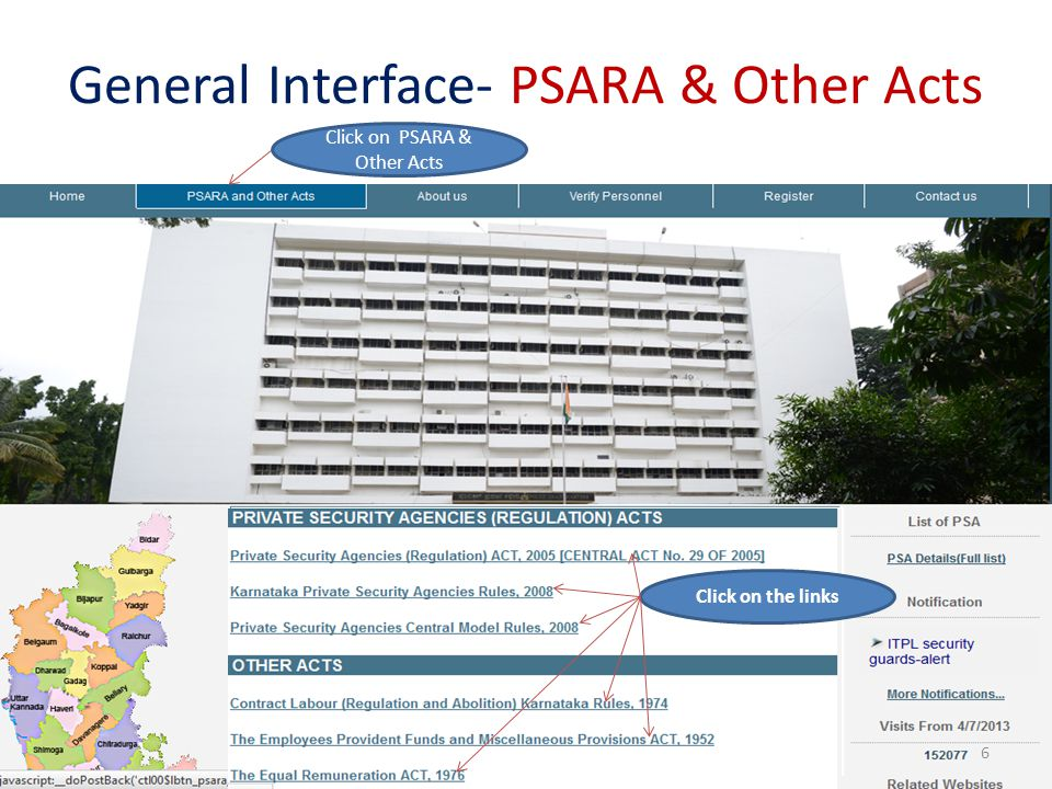 General Interface- PSARA & Other Acts
