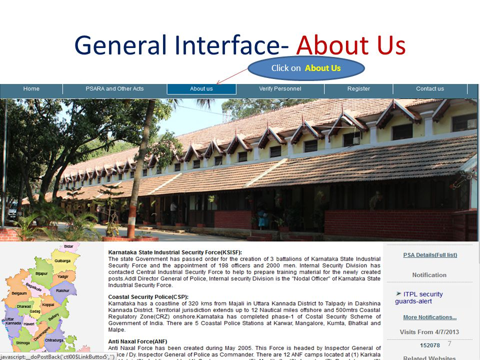 General Interface- About Us