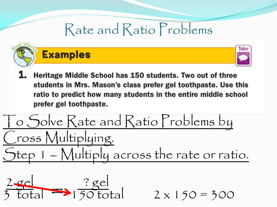 Rate and Ratio Problems