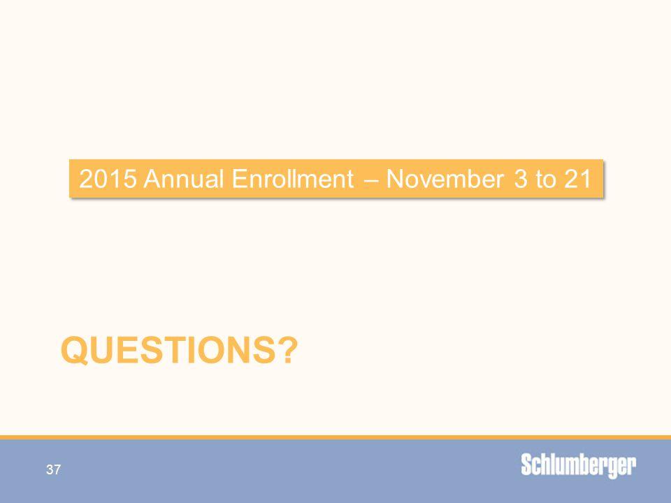 2015 Annual Enrollment – November 3 to 21