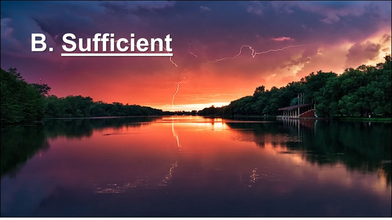 B. Sufficient