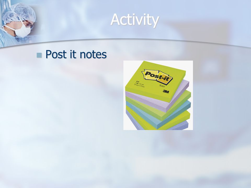 Activity Post it notes