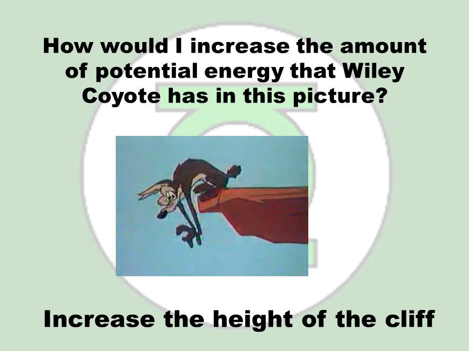 Increase the height of the cliff