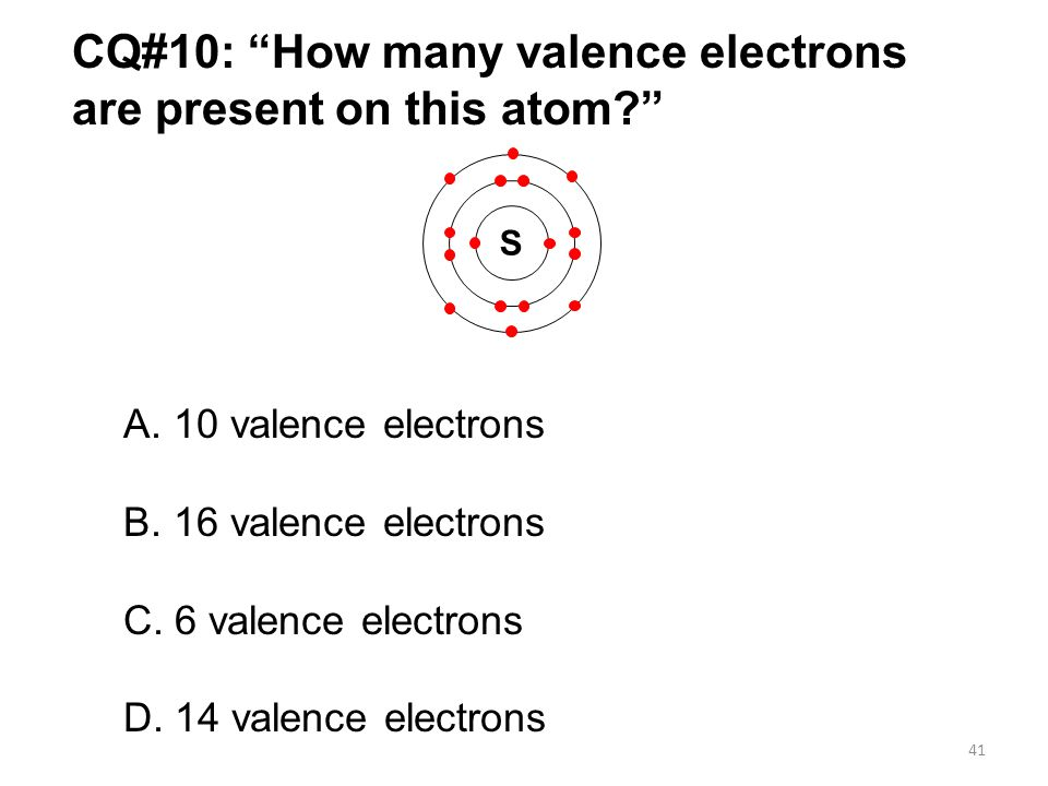 CQ#10: How many valence electrons are present on this atom