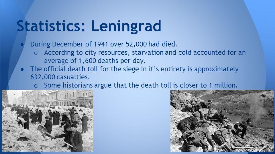 Statistics: Leningrad