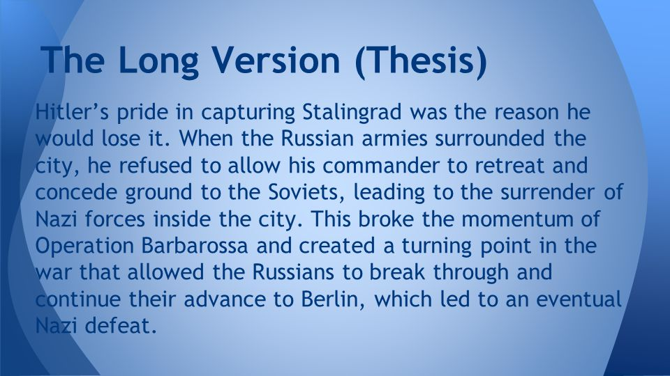 The Long Version (Thesis)