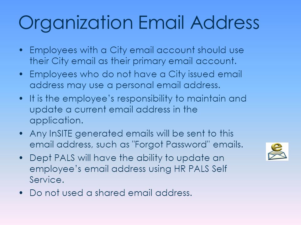 Organization Email Address