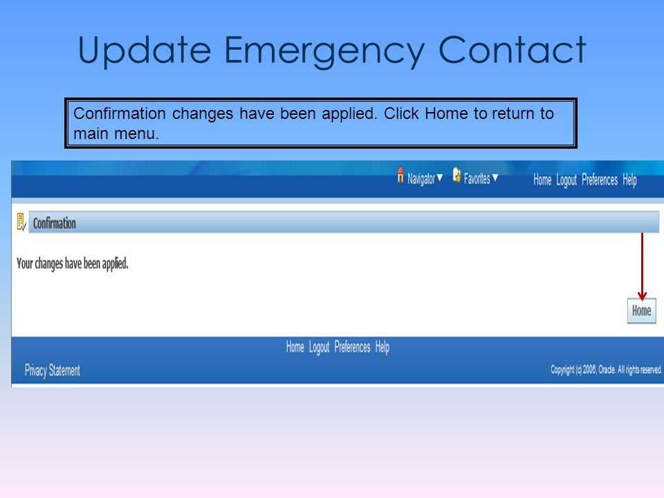 Update Emergency Contact