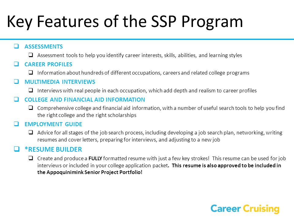 Key Features of the SSP Program