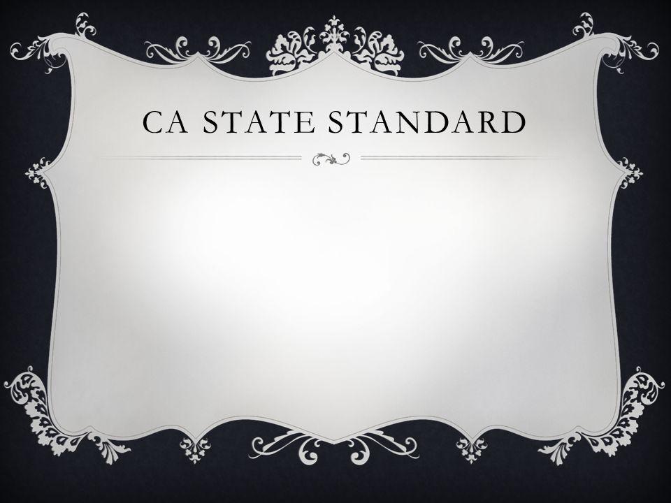 CA state standard