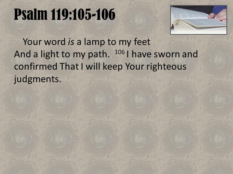 Psalm 119:105-106