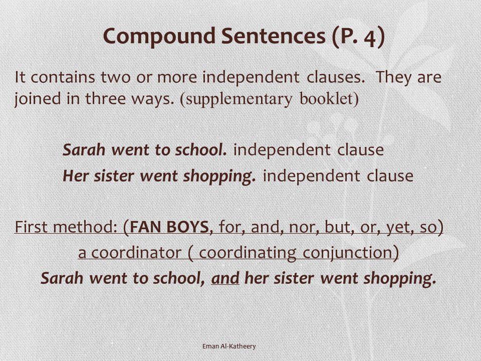 Compound Sentences (P. 4)