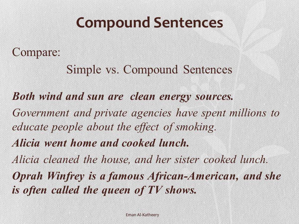 Simple vs. Compound Sentences
