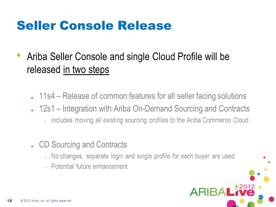 Seller Console Release