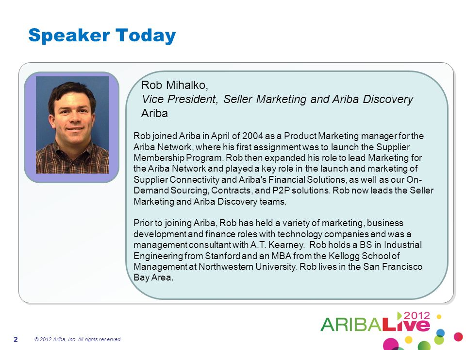 Speaker Today Rob Mihalko,