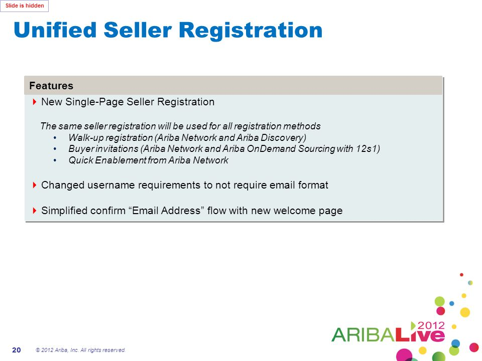 Unified Seller Registration