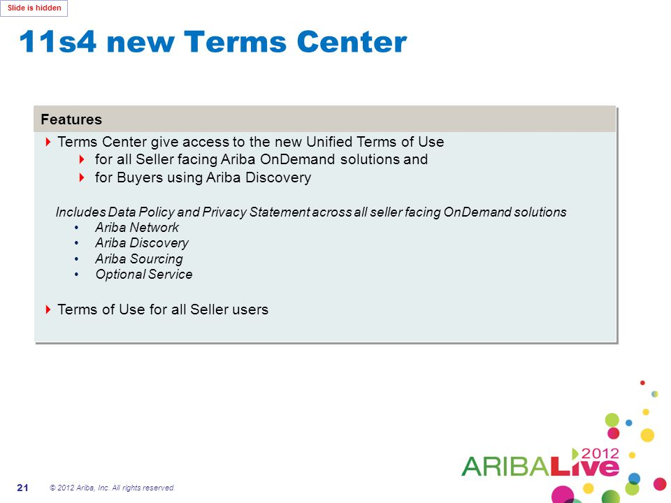 11s4 new Terms Center Features