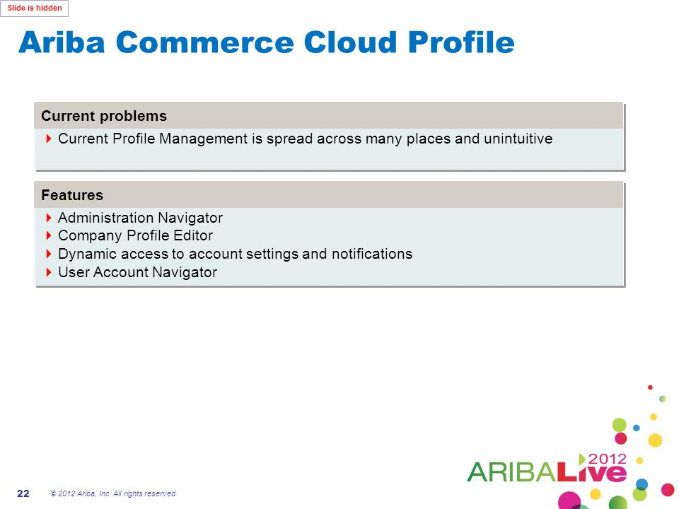 Ariba Commerce Cloud Profile