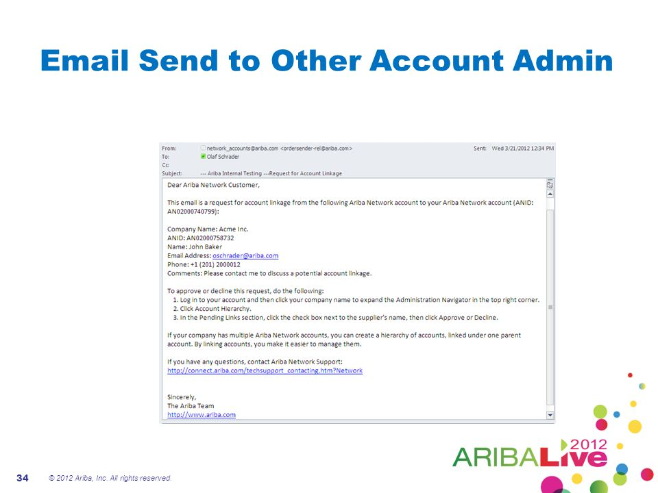 Email Send to Other Account Admin