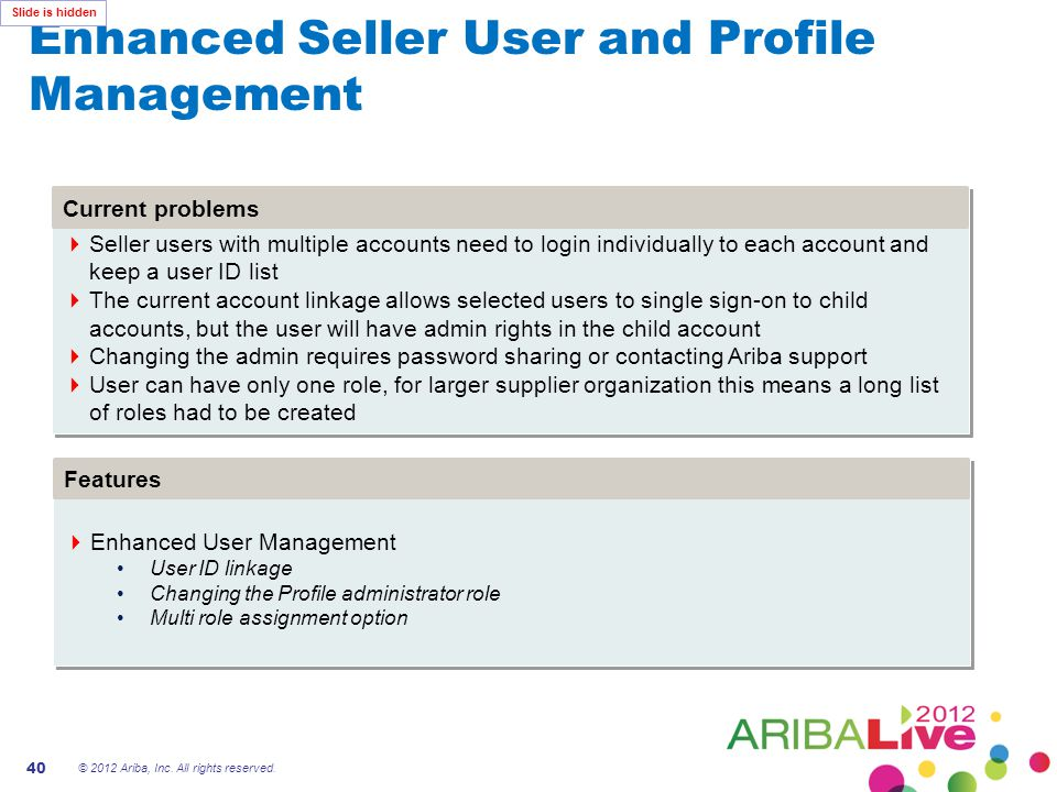 Enhanced Seller User and Profile Management