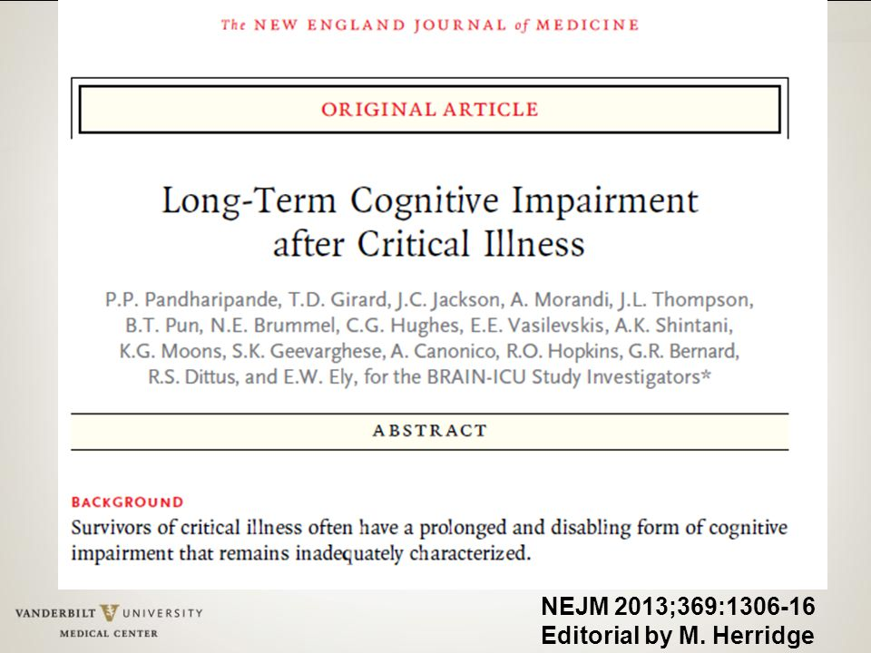 NEJM 2013;369:1306-16 Editorial by M. Herridge