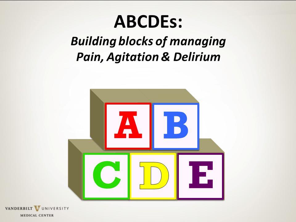 Building blocks of managing Pain, Agitation & Delirium