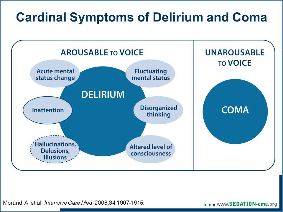 Cardinal Symptoms of Delirium and Coma