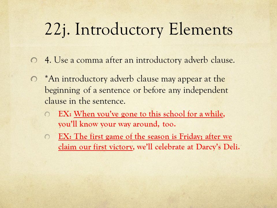 22j. Introductory Elements