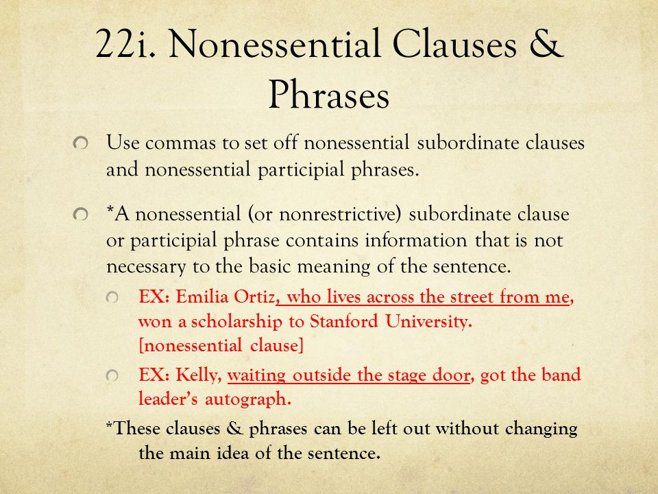 22i. Nonessential Clauses & Phrases