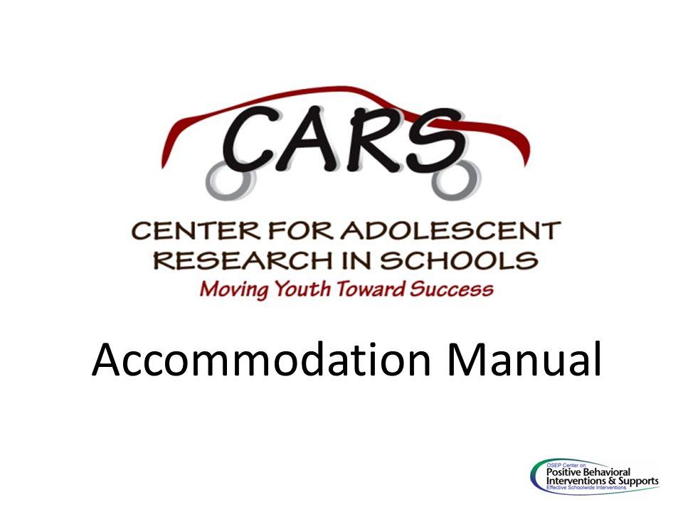 Accommodation Manual