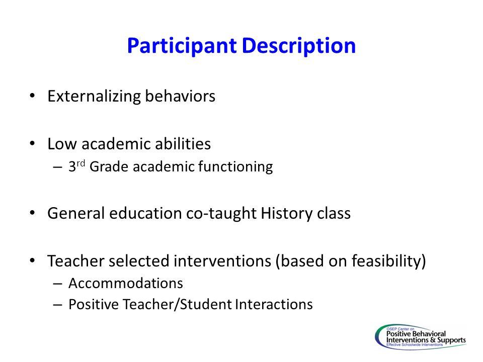 Participant Description