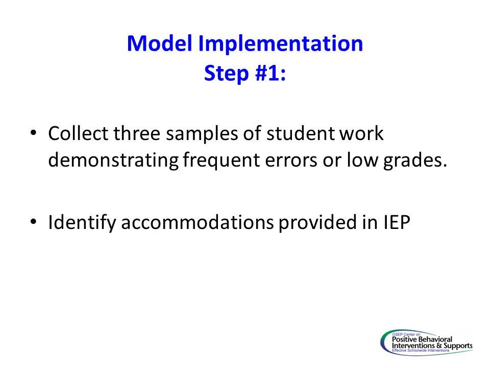 Model Implementation Step #1: