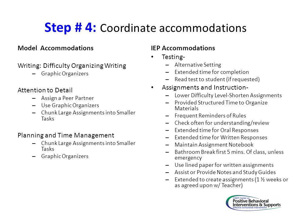 Step # 4: Coordinate accommodations