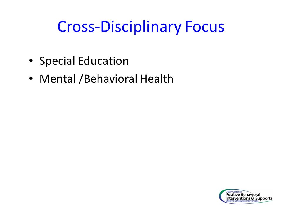 Cross-Disciplinary Focus