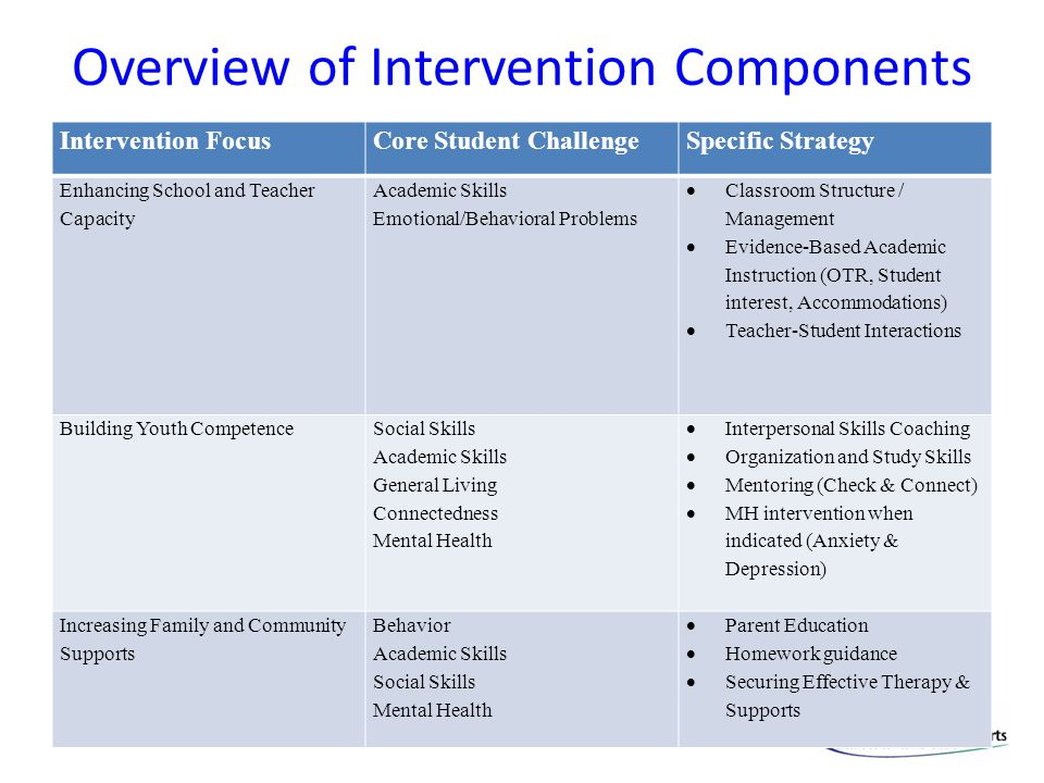 Overview of Intervention Components