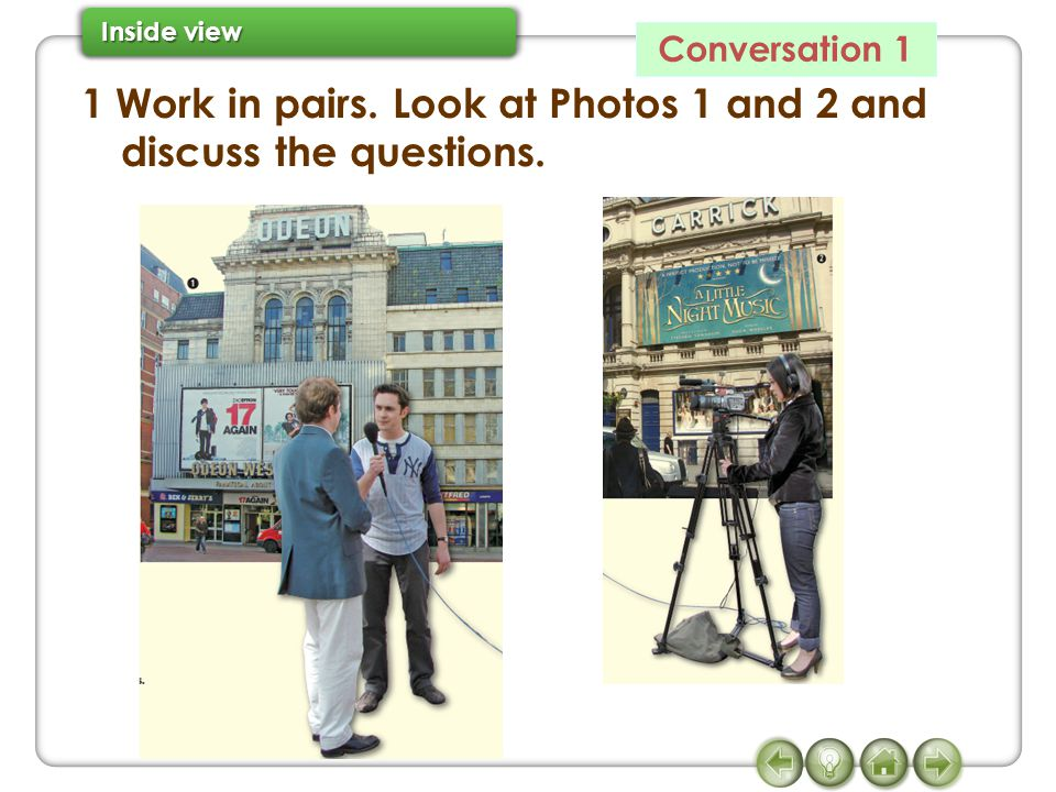 1 Work in pairs. Look at Photos 1 and 2 and discuss the questions.