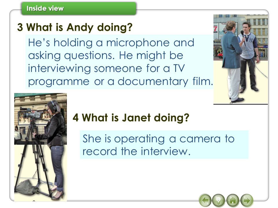 3 What is Andy doing 4 What is Janet doing