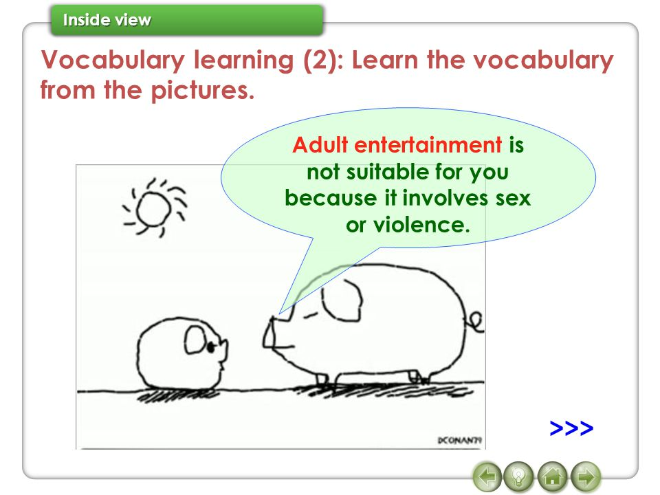 Vocabulary learning (2): Learn the vocabulary from the pictures.