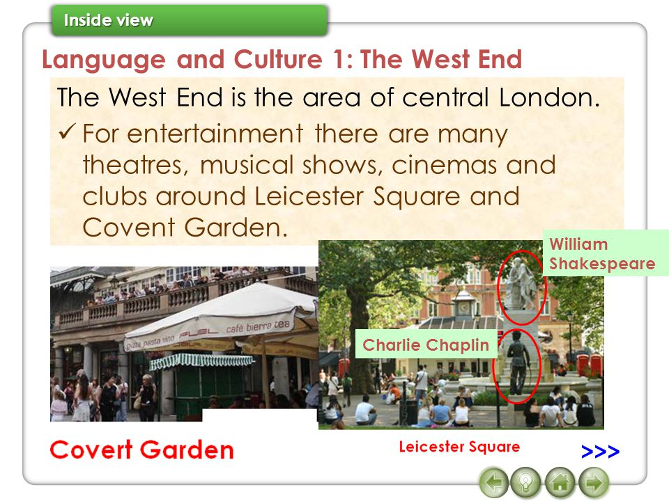 Language and Culture 1: The West End