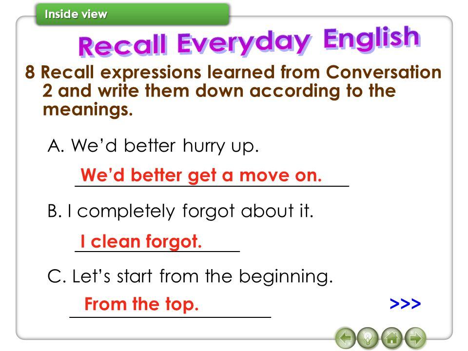 Recall Everyday English
