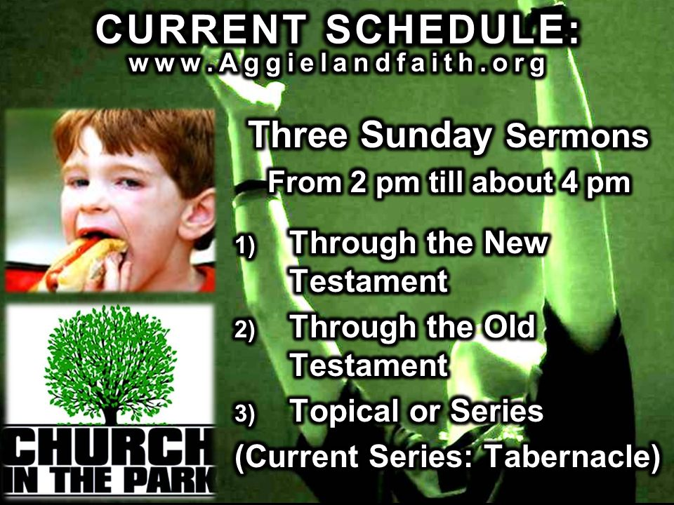 CURRENT SCHEDULE: www.Aggielandfaith.org