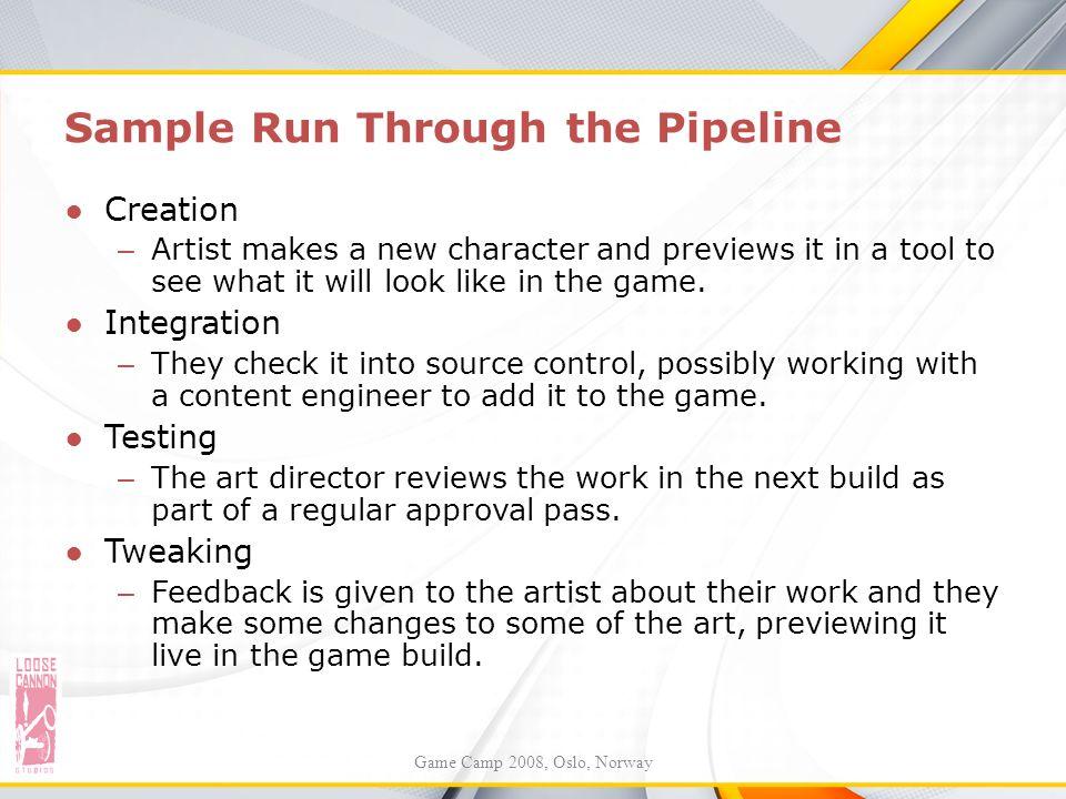 Sample Run Through the Pipeline