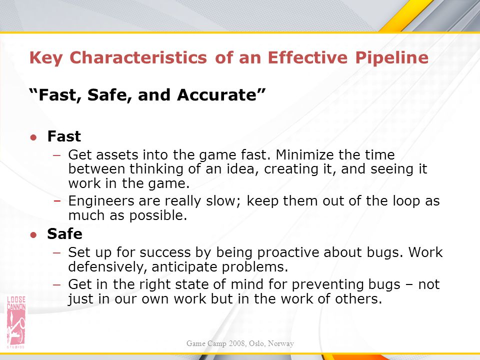 Key Characteristics of an Effective Pipeline