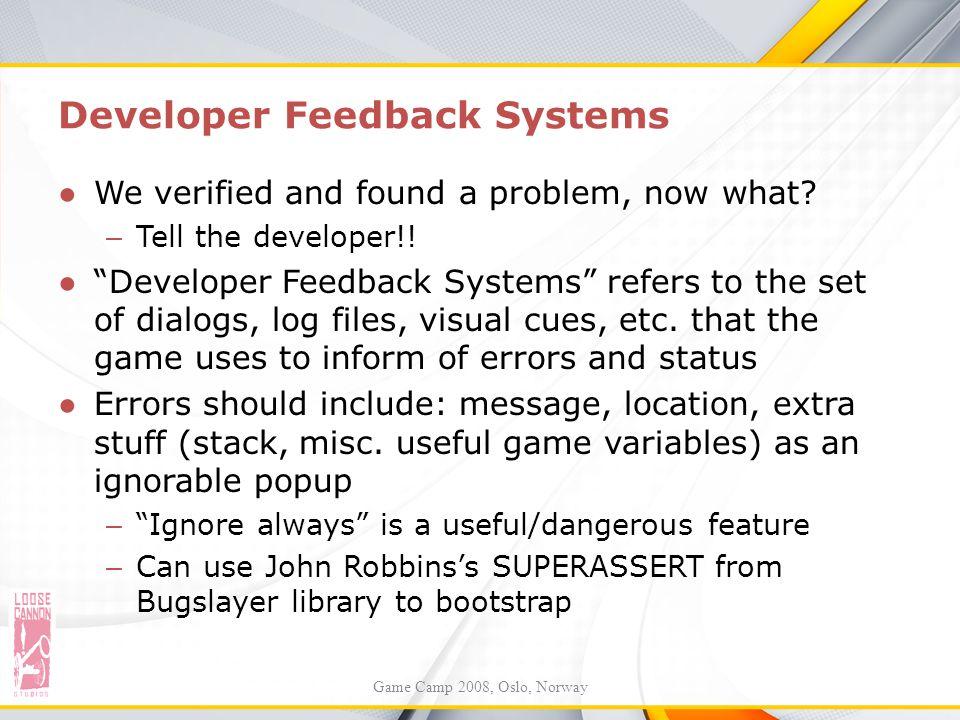 Developer Feedback Systems